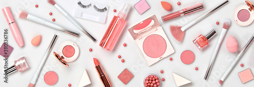 Photo Beauty cosmetic makeup background