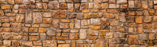Background And Texture Of Real Stone Wall, Vintage Style Decorative  Old Fence Wall Surface
