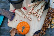 Halloween Witches' Finger Cookies