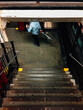 Man Carrying Bicycle into Manhatten Subway Station