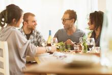 Group Of Friends Enjoying Dinn...