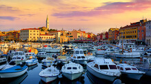 Rovinj, Istria, Croatia. Motor...