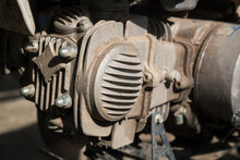 Motorcycle Engine Close-up.