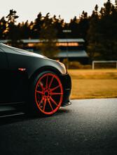 Front Wheel Shot Of A Black Ge...