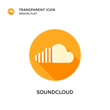 Soundcloud Vector Icon. Flat S...