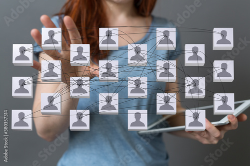 organization chart team concept networking group