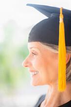 Portrait Of Woman In Graduatio...