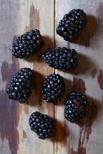 View Of Fresh Blackberries