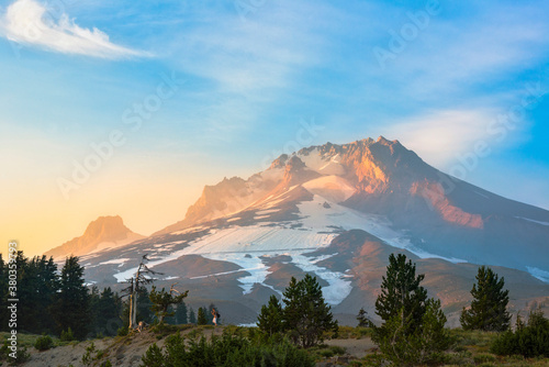 View of Mount Hood at sunrise - 380359793