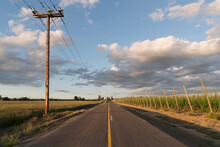 Empty Road In Diminishing Perspective