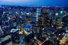 Cityscape With Illuminated Sky...