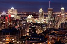 Cityscape With Illuminated Skyscrapers