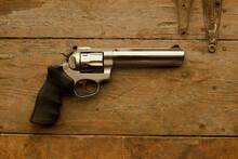 357 Caliber Handgun On Table