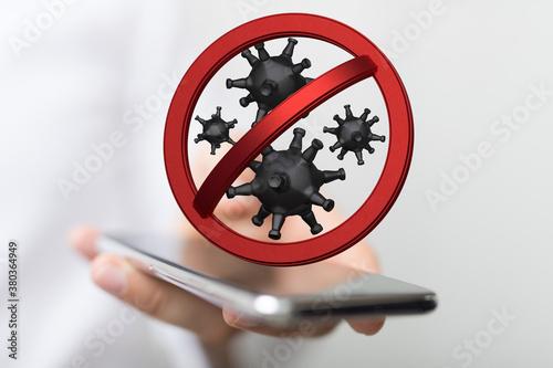 Fototapeta stop the epidemic virus global illustration obraz