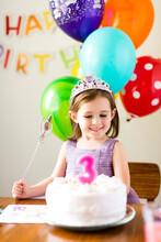Girl (4-5) At Birthday Party