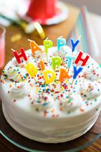 Birthday Cake On Table