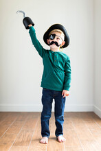Boy (2-3) Dressed Up As Pirate