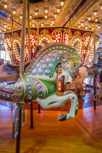 Close-up Of Carousel Horse