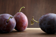 Red And Black Italian Plums