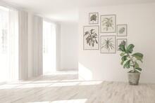 White Empty Room. Scandinavian...