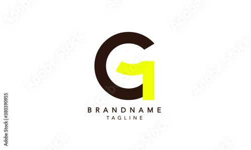 Alphabet letters Initials Monogram logo G1, 1G LETTER, G1 INITIAL, G and 1 Wallpaper Mural