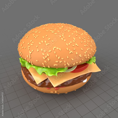 Stylized cheeseburger