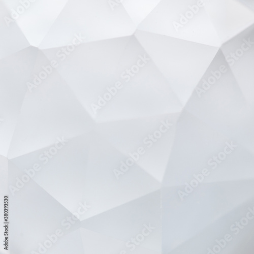 Photo Macro view crystal transparent gem with geometric polygon shapes