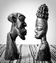 Wooden Carved Figurines Of An ...