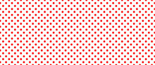 Red, Polka Dot Jersey Pattern. Pois, Polka Dots Memphis Style. Flat Vector Seamless Dotted Pattern. Vintage, Abstract Geometric Wallpaper Or Banner. Christmas ( Xmas ). Point, Round Signs.