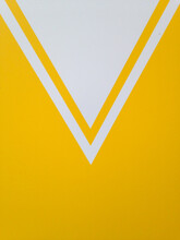 V Shaped Yellow And White Painted Wall