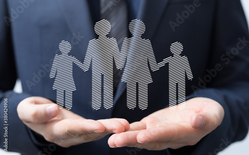 Fototapeta Family Protection And Care Concept obraz