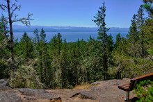 Olympic Mountains And Salish Sea From Mount Maguire, BC