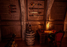Weapons Rack In The Pirate Cabin