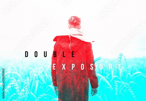 Duo Tone Double Exposure Photo Effect