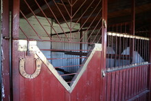 Stable Interior With Metal Doo...