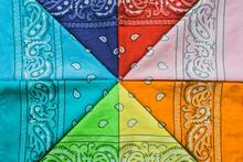 Colorful Folded Bandanas.