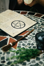 A Page From A Book Of Shadows Or Spell Book.