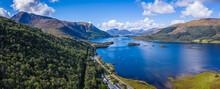 Aerial View Of Loch Linnhe In ...