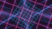Retro Neon Grid Twist Tunnel O...