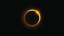 Sun Eclipse Orange Fire Dark B...