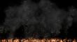 Background graphics of flame and smoke