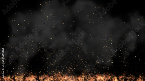 Fotografia Background graphics of flame and smoke