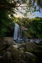 Thung Na Muang Waterfall In Ubonratchathani Province, Thailand