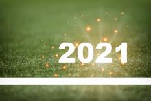 New Year 2021 And White Starti...