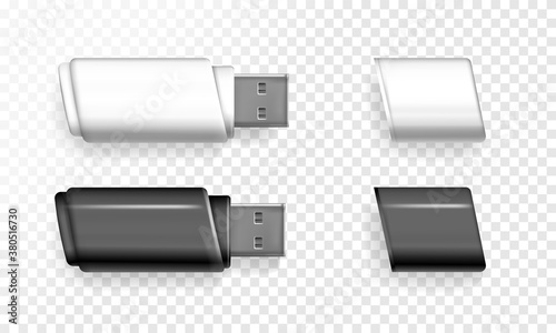 Valokuvatapetti USB flash drive vector illustration