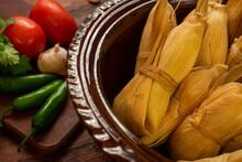 Tamales Mexicanos Hoja De Maiz...