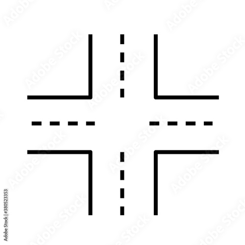 Intersection icon on white background Fotobehang