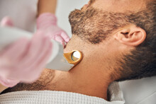 Bearded Young Man Undergoing L...