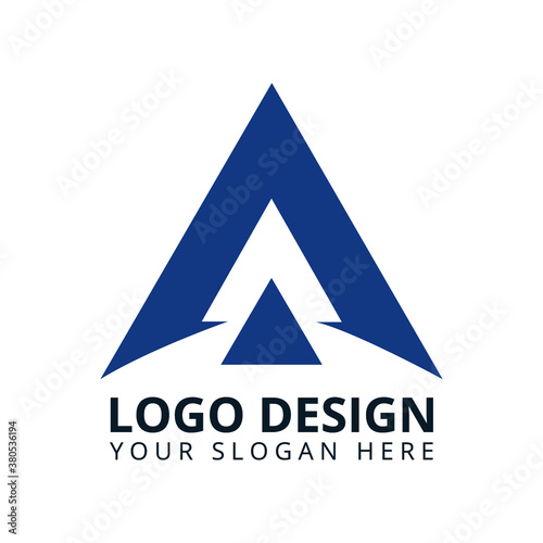 Letter A High Professional Minimalist Logo Design Vector Canvas Print