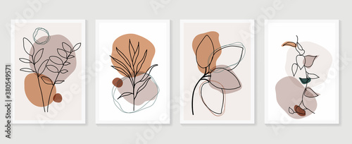 Canvas Print Botanical wall art vector set